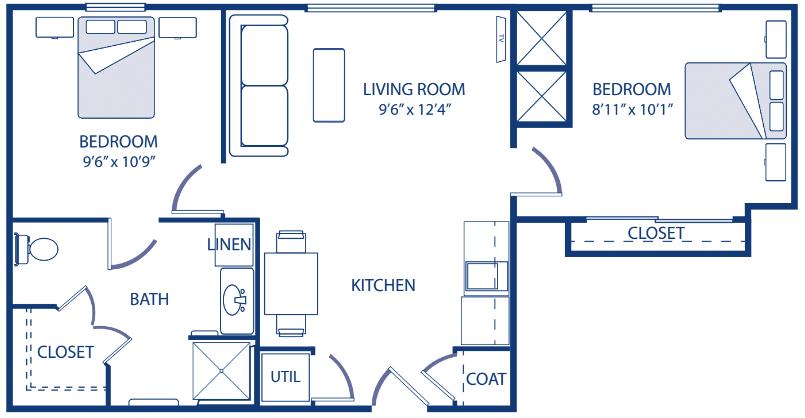 Godfrey Modified Two Bedroom
