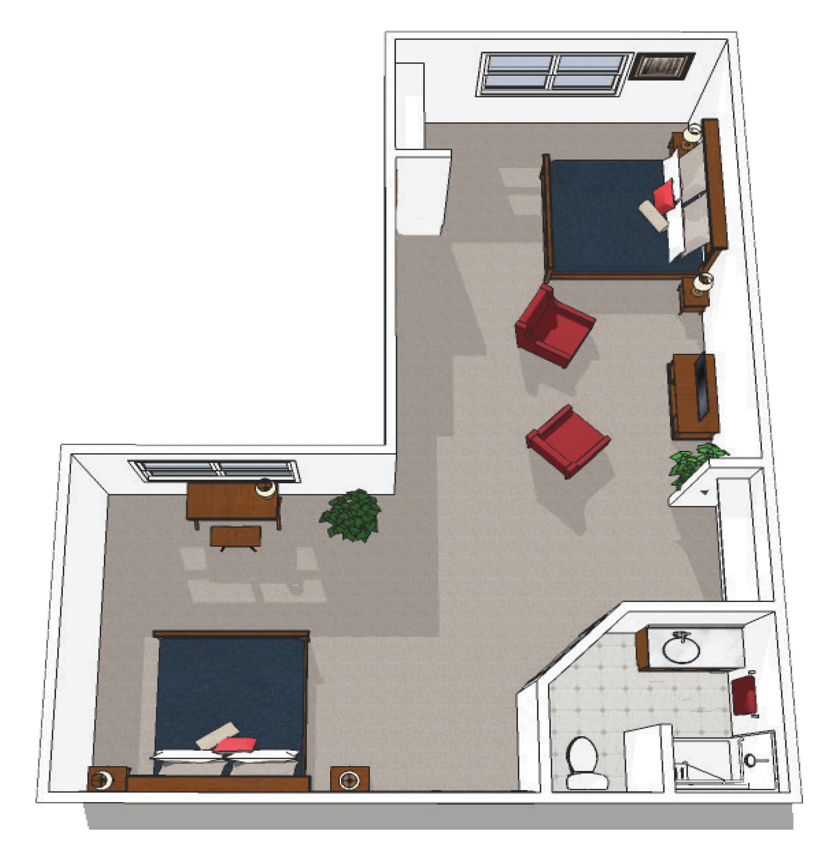 Canton Memory Care Companion Suite Floor Plan