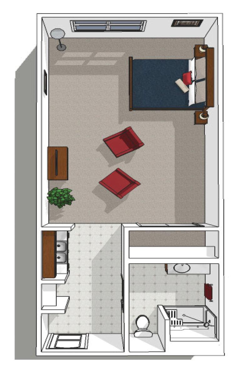 Canton Independent Living Studio Plus Floor Plan