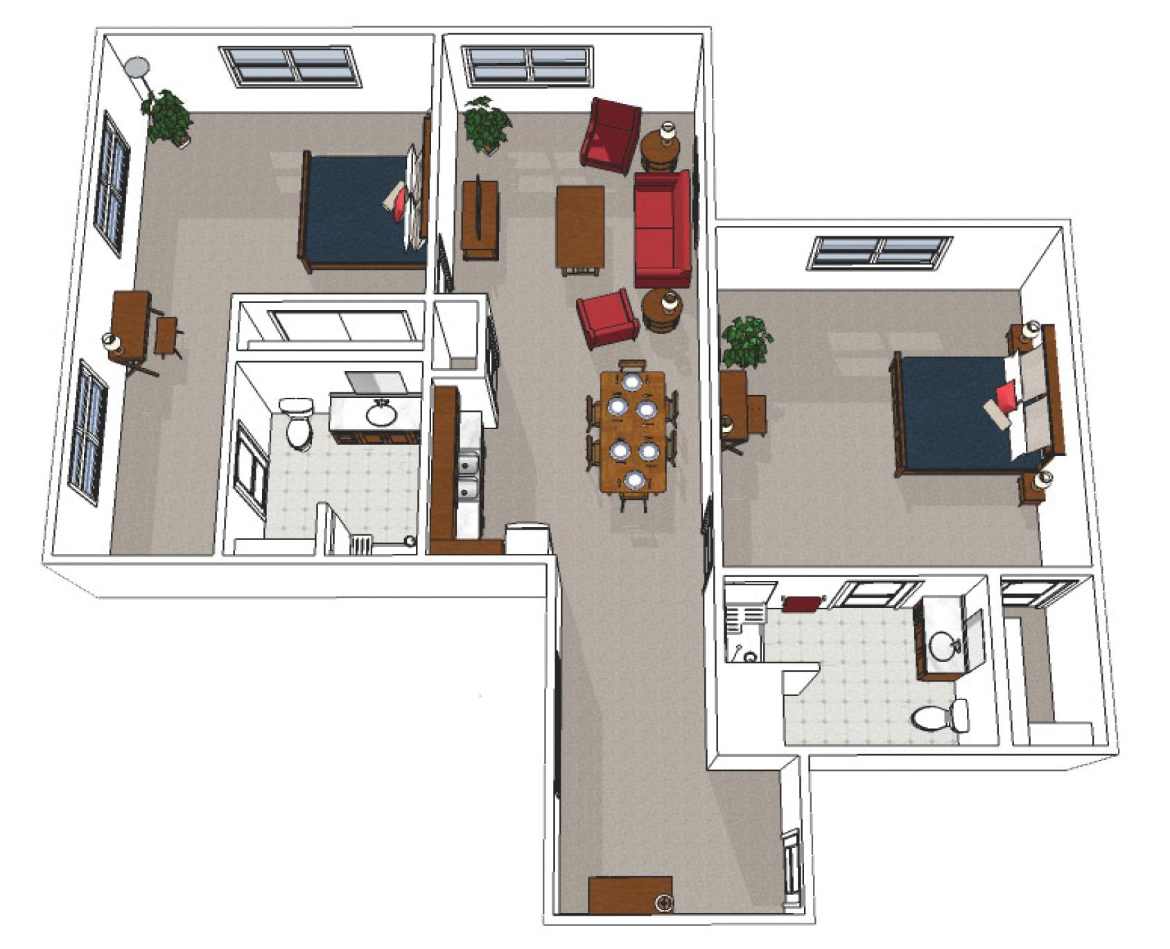 Canton Independent Living Two Bedroom Premium Floor Plan