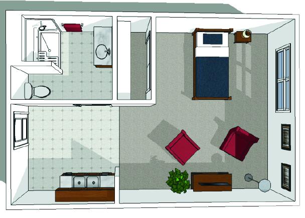 Canton Independent Living Studio Floor Plan