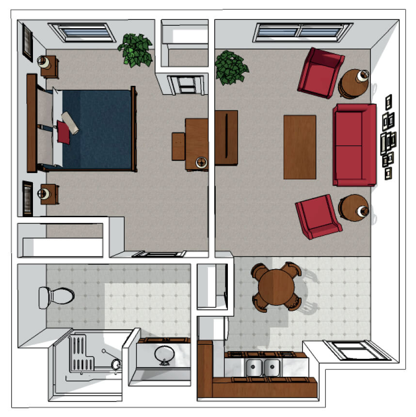 One Bedroom Plus