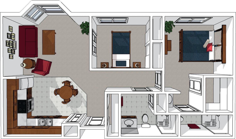 Two Bedroom Plus