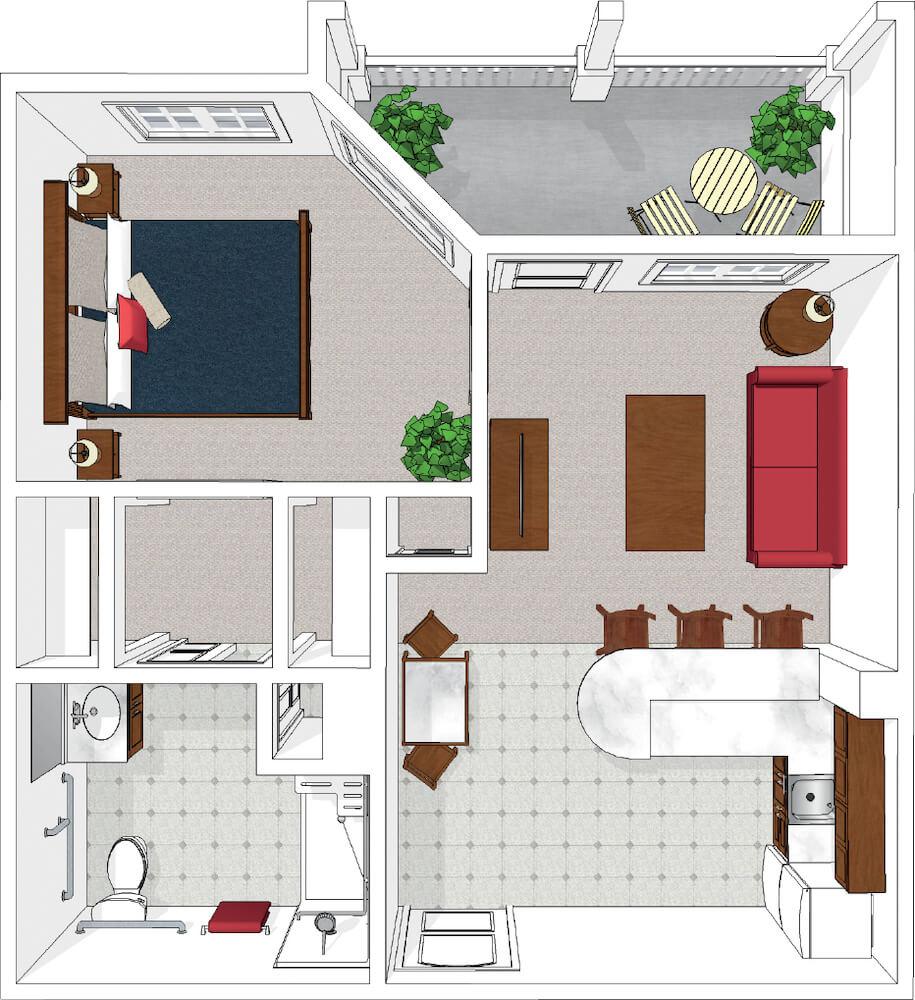 One Bedroom Premium with Balcony/Patio